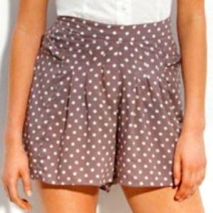 Free People muted purple flowy polka dot shorts